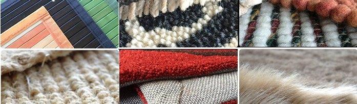 diferentes materiales para elaborar alfombras